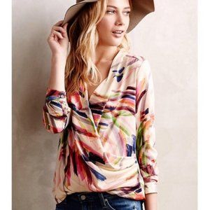 Anthropologie HD in Paris brushtrokes blouse